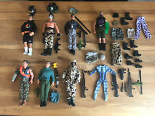 "Job Lot Bundle Vintage Hasbro 12"" GI Joe, Action Men And Accessories"