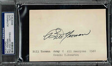 BILL YEOMAN  SIGNED POSTCARD  AUTOGRAPHED HOUSTON COUGARS  PSA/DNA