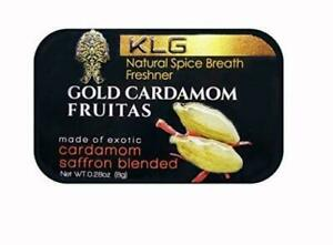 KLG Gold Cardamom Fruitas Natural Spice Breath Freshener w/24k Edible Gold