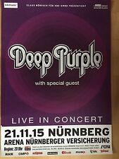 Deep PURPLE 2015 Norimberga ORIG. CONCERT POSTER -- manifesto concerto a1 NUOVO