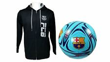 FC Barcelona Official Soccer Hoodie Jacket & Size 5 Ball Combo Adult 15 Medium
