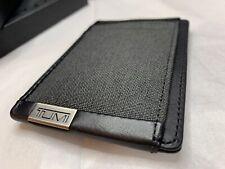 Tumi Leather Money Clip Small Mens Wallet Black