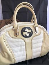 Borsa Gucci  GG Pelle/Leather Panna/Bianco - Stile 181523 - 203998 Gucci Code