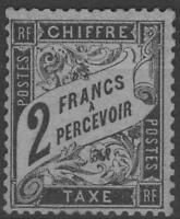 "FRANCE STAMP TIMBRE TAXE N° 23 "" TYPE DUVAL 2F NOIR "" NEUF xx TTB SIGNE  K588"