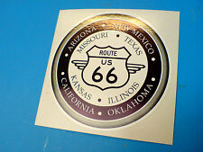 ROUTE 66 & States Retro Car Hot Rod Motorhome Sticker Decal 1 off 85mm