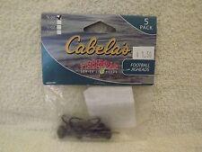 Cabela's Fisherman Series Football Jig - 1/4 oz Black