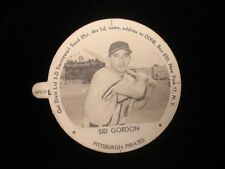 1954 Sid Gordon Pittsburgh Pirates Dixie Lid with Tab EX