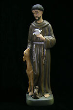 Saint St Francis of Assisi Italian Statue Sculpture Figurine Catholic Made Italy