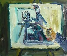 Self Portrait painting while on treadmill-Let's Paint TV