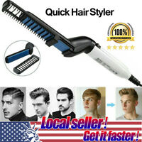 Multifunctional Hair Straightener Comb Curling Irons Electric Brush Beard Comb