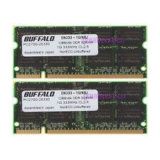 New 2GB 2X 1GB PC2700 DDR333Mhz DDR 200pin Sodimm Laptop Notebook Memory RAM