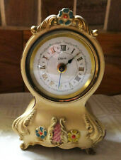 Vintage Cherie French Style Mantle Musical Alarm Clock