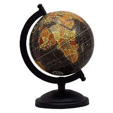 Decorative Rotating Globe World Geography Black Ocean Earth Home Decor