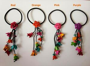 Hair band Women Fashion Beads Colorful Flower Handcraft Lady Cute Gift S2