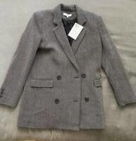 NWT IRO Pin Stripe Double Breasted Over Sized Blazer Jacket M 36