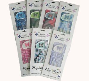 Ladies Papillon Cabretta Leather Golf Glove 3 Sizes Small Medium Large 5 4