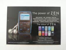 Promocard Pubblicità Creative Zen Micro n. 5147 NON VIAGGIATA