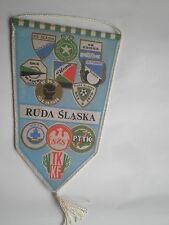 POLISH SPORT flag pennant SLAVIA WAWEL ZGODA,Urzędu Miasta Ruda Śląska POLAND