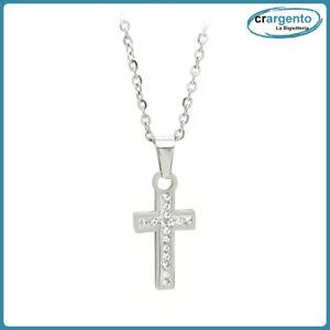 collana da uomo donna a catena con croce crocifisso girocollo catenina ciondoli