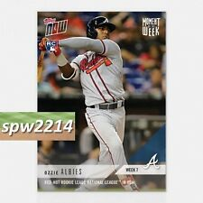 2018 Topps Now Ozzie Albies Moment of the Week #MOW-7