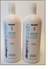 Rusk Deepshine Smooth Keratin Care Smoothing Shampoo & Conditioner Liter Duo