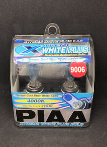 PIAA HB4 9006 H-253E BULBS EXTREME WHITE PLUS 4000K UPRATED HEADLIGHT TWIN PACK