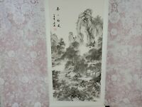 Chinese Hanging Scroll Artwork Man on Horse Landscape