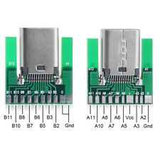 1set USB 3.1 Type C Male & Female Plug & Socket Connector SMT type with PC Board