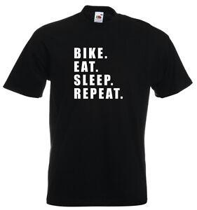 Bike Eat Sleep Repeat Mountain Biking MTB Cycling Bicycle Road Biker TShirt Gift