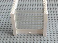 Lego Town - Garage Roller Door / Overhead Shutter - White w/ Clear, White -GMT26