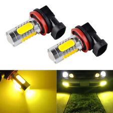 H11 H8 H9 LED Luz de Niebla Bombillas COB 3000K Amarillo Drl Conducción Lámpara 15W 12V Kit
