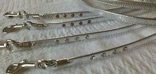 """MIRAGE SILVER  AND DIAMANTE DOG PUPPY LEAD LEASH 3/8TH"""" X 1.2M LONG"""