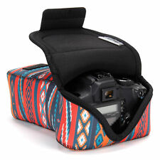 DSLR Camera and Zoom Lens Sleeve Case with Accessory Storage & Strap Openings