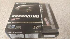 Corsair Dominator platinum 34GB DDR4 3200MGH 4x8GB