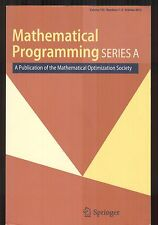 Mathematical Programming : Series A / Mathematical Optimization Society