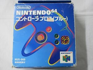 A12 Nintendo 64 official Controller Blue Japan N64 w/box bxn
