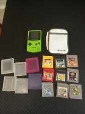 Nintendo Game Boy Color & 3 Pokemon Spiele & 6 andere Spiele & Konsole Schutzhülle