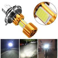 H4 18W LED 3 COB Motorcycle Headlight Bulb 2000LM 6000K Hi/Lo Beam Light White&
