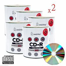 1000 Smartbuy Grade A+ 52X CD-R 700MB Silver Shiny Blank Media Recordable Disc