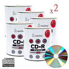 1000 Smartbuy Grade A+ 52X CD-R 700MB Silver Shiny Blank Media Recordable Disc
