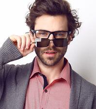 Sporty Eyeglasses Frames with Magnet Clip On Polarized Sunglasses Black Glasses