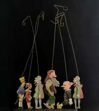 Rare antique wooden theatre puppets
