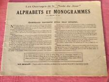 VINTAGE FRENCH EMBROIDERY MAGAZINE ALPHABETS MONOGRAMMES 1920'S 48 PAGES