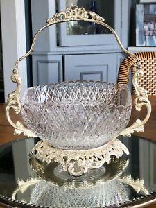 Antique Pairpoint Silver Bridal Basket