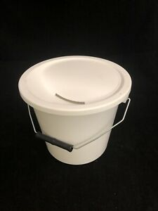 Charity Fundraising Money Collection Bucket with Lid