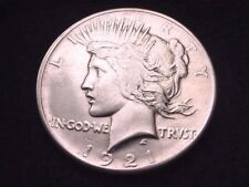 1921 PEACE DOLLAR SUPERIOR WHITE KEY DATE COIN!  #14