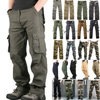 Men's Casual Military Army Cargo Camo Tactical Combat Work Pants Trousers Hiking