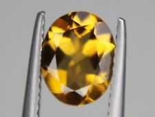 Natural Citrine Oval VVS 9x7mm 1.73ct Best Golden Yellow Brazil Loose Gemstone