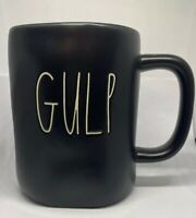 Rae Dunn GULP Black Mug Cup By Magenta Long Letter Farmhouse Coffee Tea