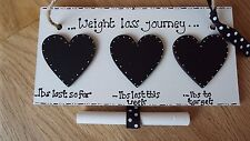 Personalised weight loss journey sign weight watchers diet chalkboard plaque